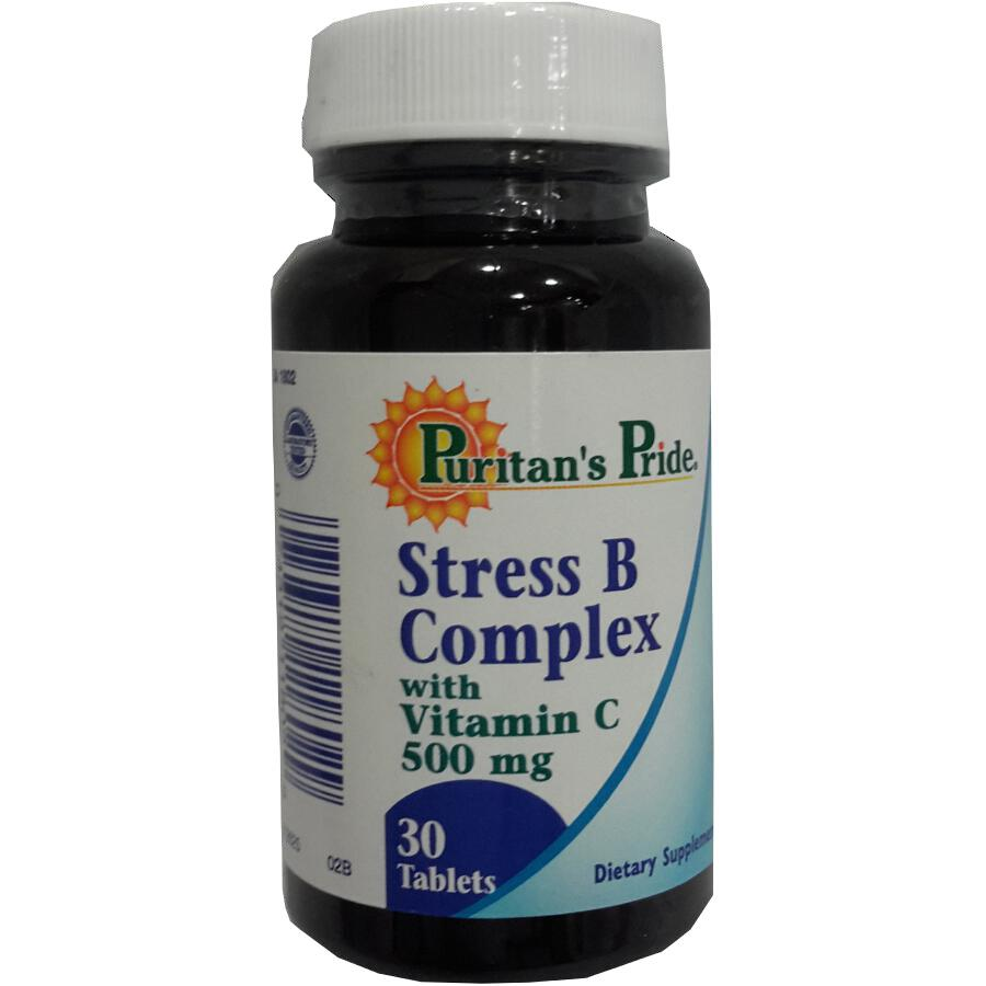 Product Image for Puritan's Pride Stress B Complex With C-500 Caplets 30's