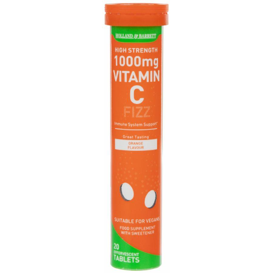 Product Image for Holland & Barrett Effervescent Vitamin C High Strength Tablets 20's